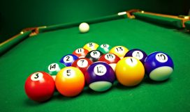 billiard balls, ready for the break