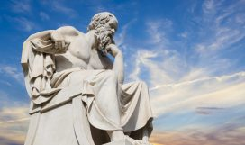 statue of Socrates from the Academy of Athens,Greece